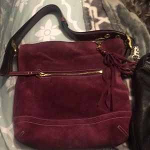 Authentic Coach: suede purse